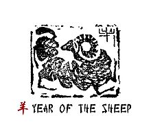 Year of The Sheep Goat Ram Photographic Print