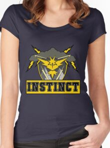 Pokemon Go Team Instinct Logo Women's Fitted Scoop T-Shirt