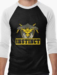 Pokemon Go Team Instinct Logo Men's Baseball ¾ T-Shirt