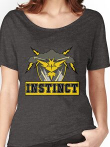 Pokemon Go Team Instinct Logo Women's Relaxed Fit T-Shirt