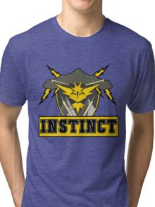 Pokemon Go Team Instinct Logo Tri-blend T-Shirt