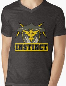 Pokemon Go Team Instinct Logo Mens V-Neck T-Shirt