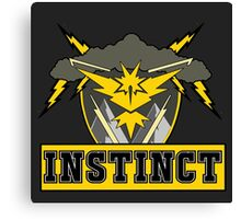 Pokemon Go Team Instinct Logo Canvas Print
