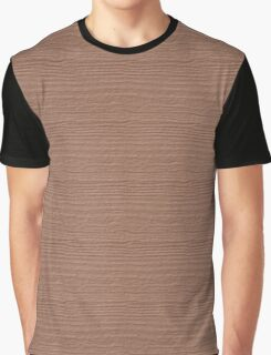Cafe au Lait Wood Grain Texture Color Accent Graphic T-Shirt