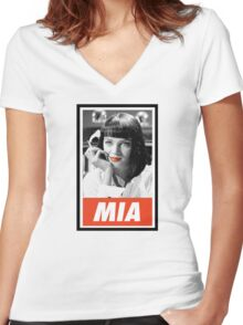 (MANGA) Mia Wallace Women's Fitted V-Neck T-Shirt