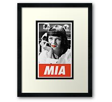 (MANGA) Mia Wallace Framed Print