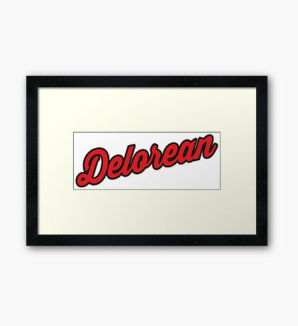 Delorean Framed Print