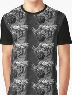 Bengal Tiger in B&W Graphic T-Shirt