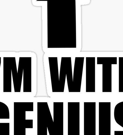 I'm With Genius Sticker