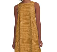 Butterscotch Wood Grain Texture A-Line Dress