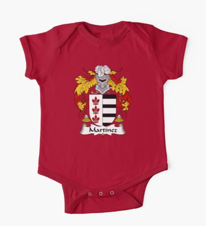 Martinez Coat of Arms/Family Crest One Piece - Short Sleeve
