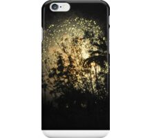 SILHOUETTED TREES IN CENTER OF FIREWORKS iPhone Case/Skin