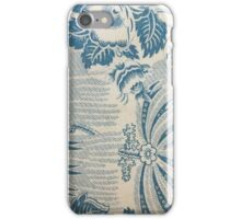 Blue and white print pattern iPhone Case/Skin