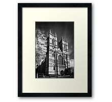 Westminster Abbey, London in monochrome Framed Print
