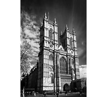 Westminster Abbey, London in monochrome Photographic Print