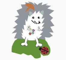 Hedgehog and Lady Bug Tee One Piece - Short Sleeve