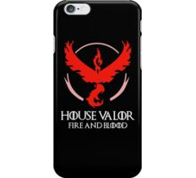 House Valor (GOT + Pokemon GO) White text iPhone Case/Skin