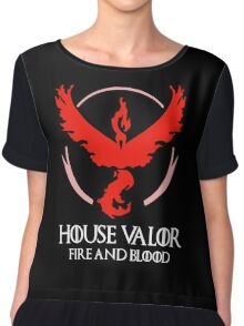 House Valor (GOT + Pokemon GO) White text Chiffon Top