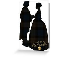 Outlander/Wedding Silhouettes  Greeting Card