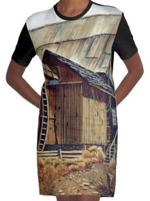 Old Mill Graphic T-Shirt Dress