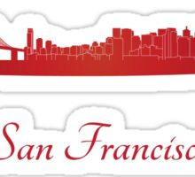 San Francisco California Skyline Sticker