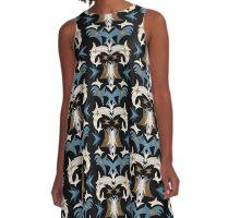 Schiaparelli Inspired Tribal Print A-Line Dress