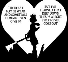 Kingdom hearts sora quote by KewlZidane