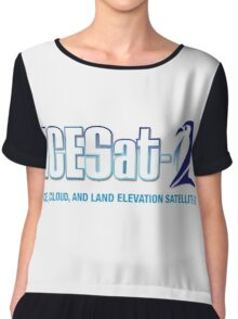 ICESat-2 Logo Optimized for Light Colors Chiffon Top