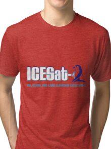 ICESat-2 Logo Optimized for Light Colors Tri-blend T-Shirt