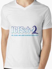 ICESat-2 Logo Optimized for Light Colors Mens V-Neck T-Shirt