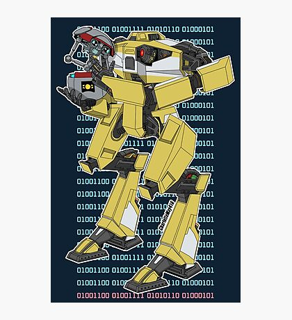 Gortys x Loader Bot (Love in Binary) Photographic Print