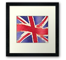 United Kingdom Watercolor Framed Print