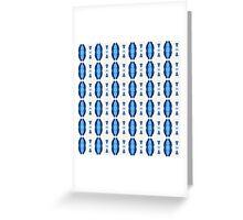 Acrylic Blue Stripes Greeting Card