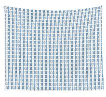 Acrylic Blue Stripes Wall Tapestry