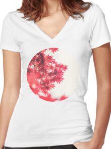 Autumn Leaves Women's Fitted V-Neck T-Shirt