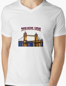 Tower Bridge, London Mens V-Neck T-Shirt