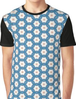 Acrylic Blue Orange Stars Graphic T-Shirt