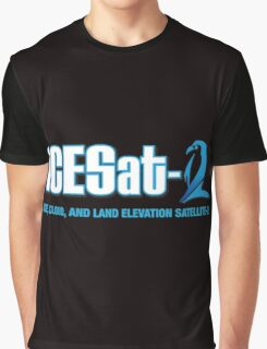 ICESat-2 Logo Optimized for Dark Colors Graphic T-Shirt