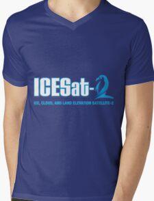 ICESat-2 Logo Optimized for Dark Colors Mens V-Neck T-Shirt