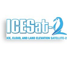 ICESat-2 Logo Optimized for Dark Colors Metal Print