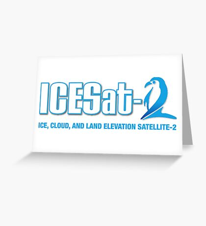 ICESat-2 Logo Optimized for Dark Colors Greeting Card