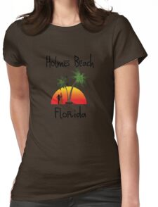 Holmes Beach Florida Womens Fitted T-Shirt