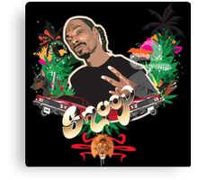 Snoop dogg - plain background Canvas Print