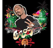 Snoop dogg - plain background Photographic Print