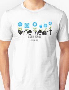 One Heart - Flowers T-Shirt