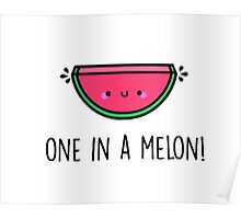 You're ONE in a MELON!  Poster