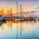 Marina Reflections - HerveyBay Qld Australia by Beth  Wode