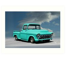 1956 Chevrolet Stepside Pickup Truck Art Print
