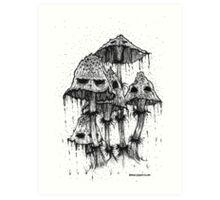 Shroom Party Art Print