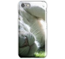 Sleepy White Tiger iPhone Case/Skin